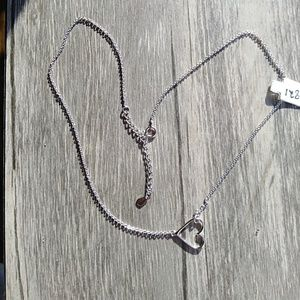 Sideways heart necklace in .925 sterling